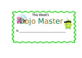 Dojo Master poster (Word)