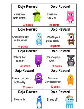 Dojo Reward Cards (Editable)