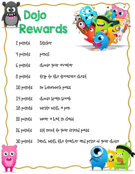 Dojo Rewards Poster
