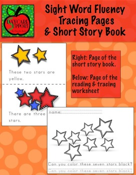 Dolce Sight Word Fluency Tracing Pages & Short Story Book