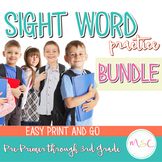Dolch Sight Word Practice--BUNDLE