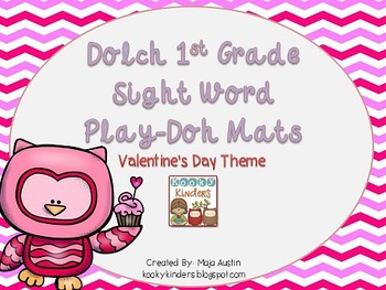 Dolch 1st Grade Sight Word Play-Doh Mats Valentine's Day Theme