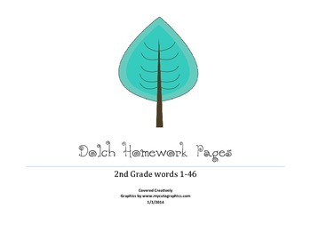 Dolch 2nd Grade Homework Pages