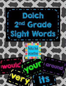 Dolch 2nd Grade Sight Word Flash Cards/Word Wall Cards