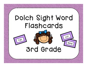 Dolch 3rd Grade Flashcards