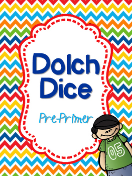 Dolch Dice- PrePrimer {Sight Word Dice}