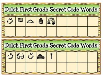 Dolch First Grade Secret Code Words