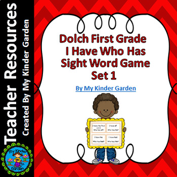 Dolch First Grade Set 1 I Have Who Has Sight Word Game