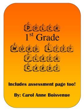 Dolch First Grade Sight Word Pumpkin Flash Cards