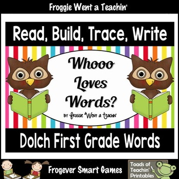 Dolch First Grade Sight Words--Read, Build, Trace, Write ""