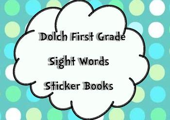 First Grade Sight Words Sticker Books