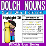 Sight Word Stories - Dolch Nouns - Highlight It!