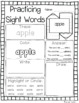 Dolch Nouns Sight Words Practice Pages