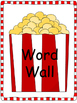 Popcorn Dolch Word Wall