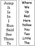 Dolch Pre-Primer Fluency Strips