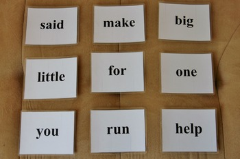 Dolch Pre-Primer Sight Word Cards (SIMPLE, CLEAN FONT, PER