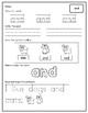 Dolch Pre-Primer Sight Word Worksheets