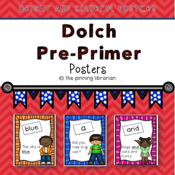 Dolch Pre-Primer Word Posters