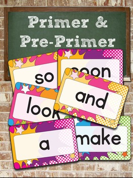 """Dolch Pre-Primer and Primer Super Hero Word Cards – 4"""" x 6"""