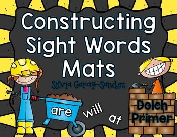 Dolch  Primer Constructing Sight Words  Mats