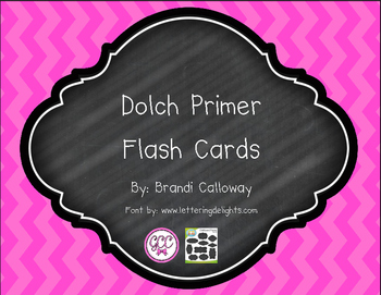 Dolch Primer Flash Cards