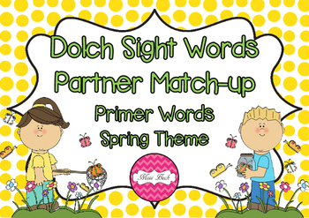 Dolch Primer Partner Match Up Game {Spring Theme}
