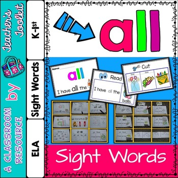 Dolch Primer Sight Word Booklet ALL