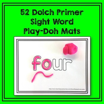 Dolch Primer Sight Word Play-Doh Mats