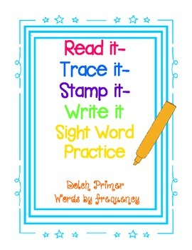 Dolch Primer Sight Word Practice