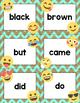 Dolch Primer Sight Words Cards- Emoji Theme