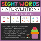Dolch Primer Sight Words Intervention Pack