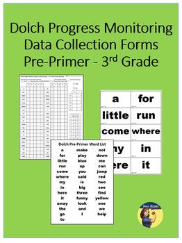 Dolch Progress Monitoring Forms - Pre-Primer through 3rd Grade