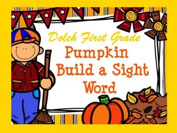 Dolch Pumpkin Build a Sight Word--First Grade