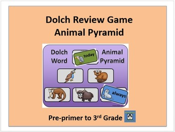 Dolch Review Game - Animal Pyramid
