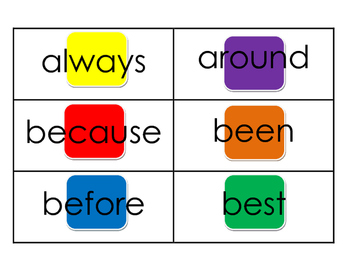 Dolch Second Grade Candy Land Sight Words