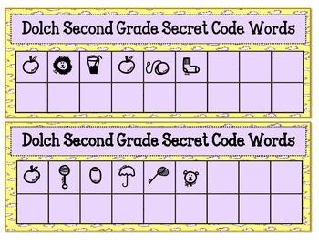 Dolch Second Grade Secret Code Words