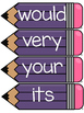 Dolch Second Grade Word Wall Sight Word Cards- Purple