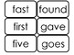 Dolch Second Grade Sight Word Flash Cards in a PDF file. 2