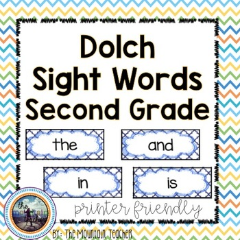 Dolch Second Grade Sight Word Rings/Word Wall Words/Flash Cards