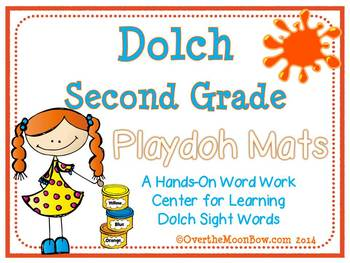 Dolch Second Grade Sight Words Playdoh Mats