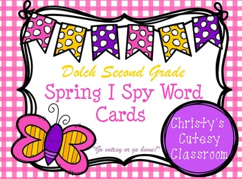 Dolch Second Grade Spring I Spy Word Cards