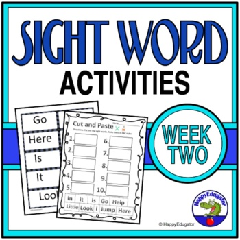 Dolch Sight Words Activities - Week 2