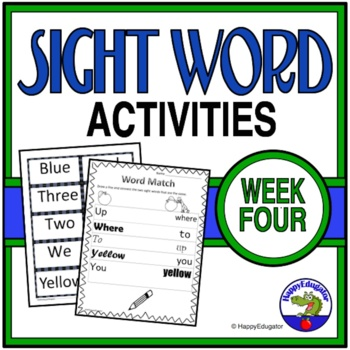 Dolch Sight Words Activities - Week 4