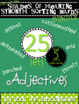 Dolch Sight Word Adjective Vocabulary {Shades of Meaning S