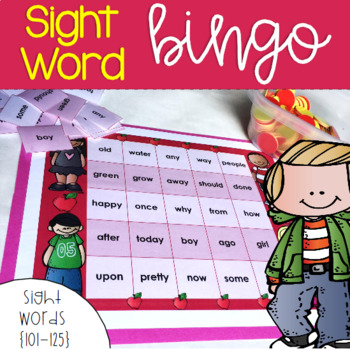 Dolch Sight Word Bingo {100-125}