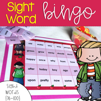 Dolch Sight Word Bingo {76-100}