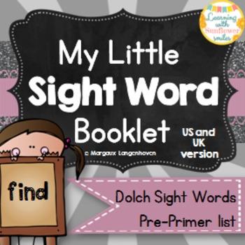 Dolch Sight Word Booklet - find (Pre-Primer)