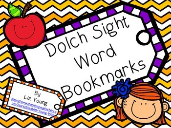 Dolch Sight Word Bookmarks