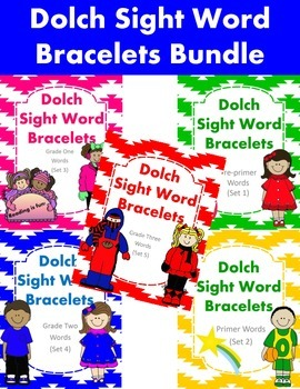 Dolch Sight Word Bracelets Bundle