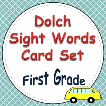 Dolch Sight Word Cards (1st Grade List)